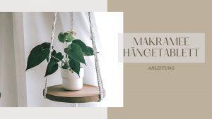 DIY Makramee Hängetablett
